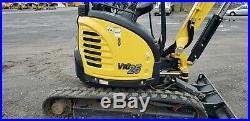 2018 Yanmar VIO25 Mini Excavator Only 287 Hours! Hydraulic Thumb! Very Nice