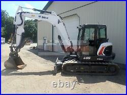 2019 Bobcat E85 MIDI Excavator Cab Heat/ac Aux Hyd Hyd Thumb 2sp 177 Hours 66 HP