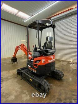2019 Kubota U17 Mini Track Excavator, Open Rops, 2 Speed, 16hp