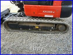 2021 Kubota Kx033-4 Mini Excavator, Cab, 33 Hours, Hyd Thumb, 2 Speed, Heat A/c