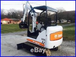BOBCAT 328G TRACK MINI EXCAVATOR PLOW DIESEL BLADE DIGGING BUCKET