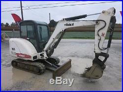 Bobcat 331e Mini Excavator, Cab Heat/ac, 2 Speed, Extenda-hoe, Clean One Owner
