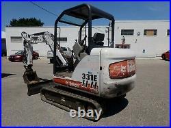 Bobcat 331e Mini Excavator, Ext Arm, 42.8hp Pre-emissions, 2spd, Orops, Aux Hyd