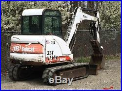 Bobcat 337D Mini Excavator Hydraulic Thumb 74 Backfill Blade Kubota Cab Heat