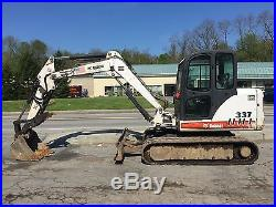 Bobcat 337 Mini Excavator 6 ton Enclosed Cab Bucket Digger Thumb Kubota Diesel