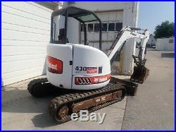 Bobcat 430 Fast Track Zhs Mini Excavator, Orops, Hyd Thumb, Pre-emissions, 2 Spd