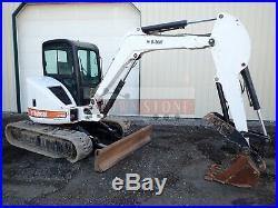 Bobcat 435 Zhs Mini Excavator, Cab, Heat/ac, Aux Hydraulics, Hyd Thumb, 48.8 HP