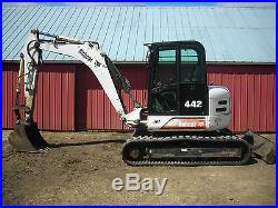 Bobcat 442 Excavator Cab Heat AC Fully Serviced and Ready to Work! E80 341 435