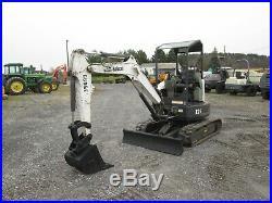 Bobcat E26 Used Mini Excavator Dozer 3rd Valve Diesel Rubber Tracks Canopy Blade