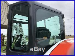 Bobcat E55 Excavator Rubber Tracks A/C Cab