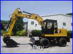 Caterpillar 206 Cat Rubber Tired Mobile 4x4 Excavator Push Blade Aux Hydraulics