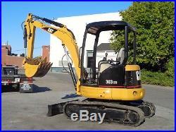 Caterpillar 303CR Mini Excavator Auxiliary Hydraulics Extra Bucket