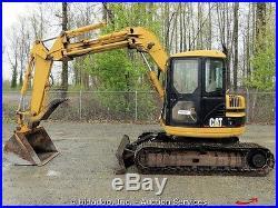 Caterpillar 308B-SR Hydraulic Midi Excavator Thumb Cab Heat Blade CAT bidadoo