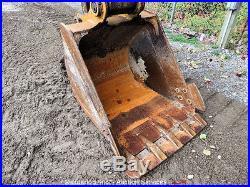 Caterpillar 313B SR Hydraulic Excavator Tractor Track Hoe Offset Boom Cab A/C