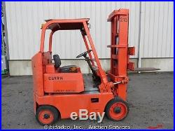Clark C60 Warehouse Forklift Solid Tires Gasoline Engine 5,000 Lbs Capacity