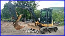 Deere 50d Excavator Cab A/c Thumb Nice! Ready 2 Work In Pa We Ship Nationwide