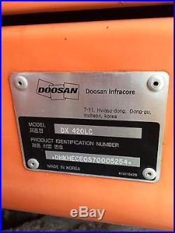 Doosan Dx420 Excavator 145 Hrs Unused