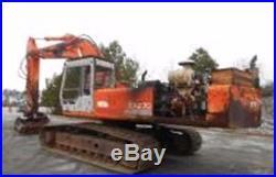 HITACHI EX270LC HYDRAULIC EXCAVATOR ISUZU MULCHING AXIS FORESTRY GRINDING HEAD