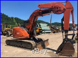 Hitachi EX135UR Crawler Excavator Hydraulic Thumb Knuckle Boom Cab AC Track