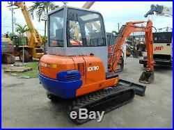 Hitachi Ex-30 Enclosed Cab Mini 6,600 Lb Excavator Brand New Tracks Today