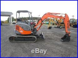 Hitachi ZX35UNA-Z Used Mini Excavator Tractor Dozer Rubber Tracks Diesel