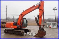 Hitachi Zaxis 120 Excavator, Cab, Heat/AC, 2 Spd, Hydraulic Thumb, Isuzu Diesel