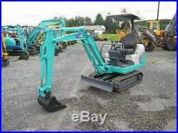 IHI 18J Used Mini Excavator Dozer Tractor Diesel Rubber Tracks Pilot Canopy