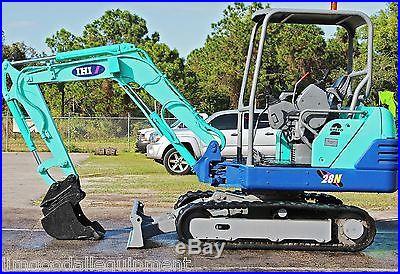 IHI 28N2 Mini Excavator, 6500 Lbs, Dig 8'3,2006,18 Bucket w/Quick Coupler