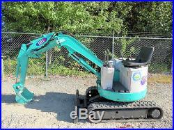 IHI Hydraulic Mini Excavator Rubber Tracks 39 Blade 14 Bucket Diesel bidadoo