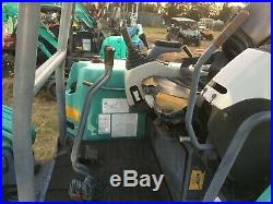 Ihi 25n Rubber Track Mini Excavator, 16 Bucket, Approx. 10' Dig Zero Tail Spin