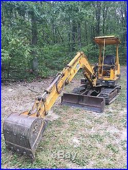 John Deere 25 Excavator steel tracks 24 bucket Yanmar Diesel