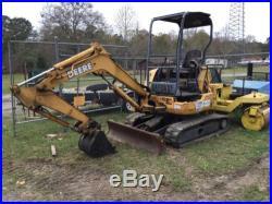 John Deere 27C ZTS Mini excavator