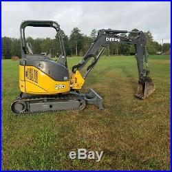 John Deere 27D mini excavator 2013 1690 hrs excellent condition