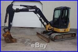 John Deere 50D Mini Excavator, EROPS, Heat/AC, 3RD Valve, 39 HP Diesel, 2 Speed