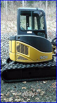 John Deere 50D Mini Excavator- Mint Condition