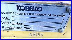 KOBELCO SK80CS EXCAVATOR LOW HOURS READY TO WORK IN PA! WE SHIP NATIONWIDE