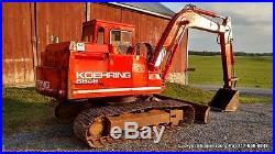 KOEHRING 6608 Excavator ISUZU 4 Cylinder Diesel CAB Track Hoe