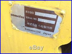 KOMATSU PC75UU-2 HYDRAULIC EXCAVATOR ENCLOSED CAB AC/HEAT RUBBER TRACKS BOB CAT