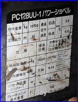 KOMATSU PC 128UU EXCAVATOR VERY GOOD CONDITION