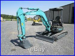 Kobelco SK35SR Used Mini Excavator Tractor Dozer Steel Tracks Diesel Blade