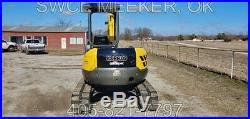 Kobelco SK45SR-2 Mini Excavator Trackhoe Backhoe Case CX47 Yanmar Diesel Thumb