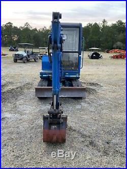 Kobelco Sk024 Rubber Track Mini Excavator Full Cab, Diesel 7500 Lb Runs Great Hd