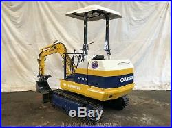 Komatsu PC10-3 Mini Excavator with Hydraulic Thumb S/N 6751