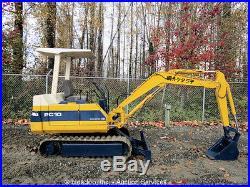 Komatsu PC10-5 Mini Excavator Backhoe 55 Blade Rubber Tracks Diesel Repair