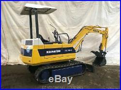 Komatsu PC10-6 Mini Excavator with Hydraulic Thumb S/N 22844