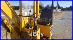 Komatsu PC12UU Mini Excavator Trackhoe Backhoe Dozer With Thumb Yanmar Diesel