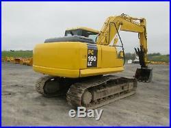 Komatsu PC160LC-7KA Excavator Tractor Dozer Diesel Used Heat A/C Cab Hyd Thumb