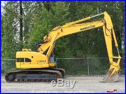Komatsu PC228US-2 Hydraulic Excavator 9' 7 Stick Heat Cab A/C Zero Swing 138HP