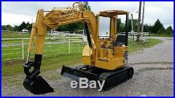 Komatsu PC28UU Mini Excavator Trackhoe Backhoe Dozer Yanmar Diesel Engine