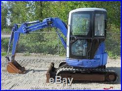 Komatsu PC30UU-3 Hydraulic Mini Excavator Enclosed Cab Yanmar Diesel Aux Hyd